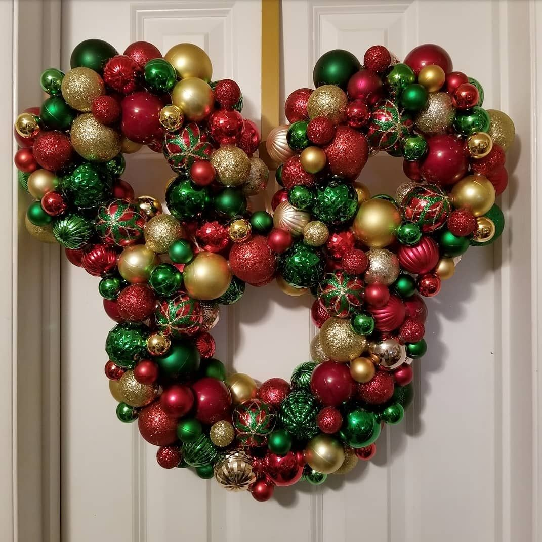 How Cute Is This Limited Edition Mickey Mouse Ornament Wreath Mickeymousewreath Mickeymouseo Mickey Mouse Ornaments Mickey Mouse Wreath Ornament Wreath