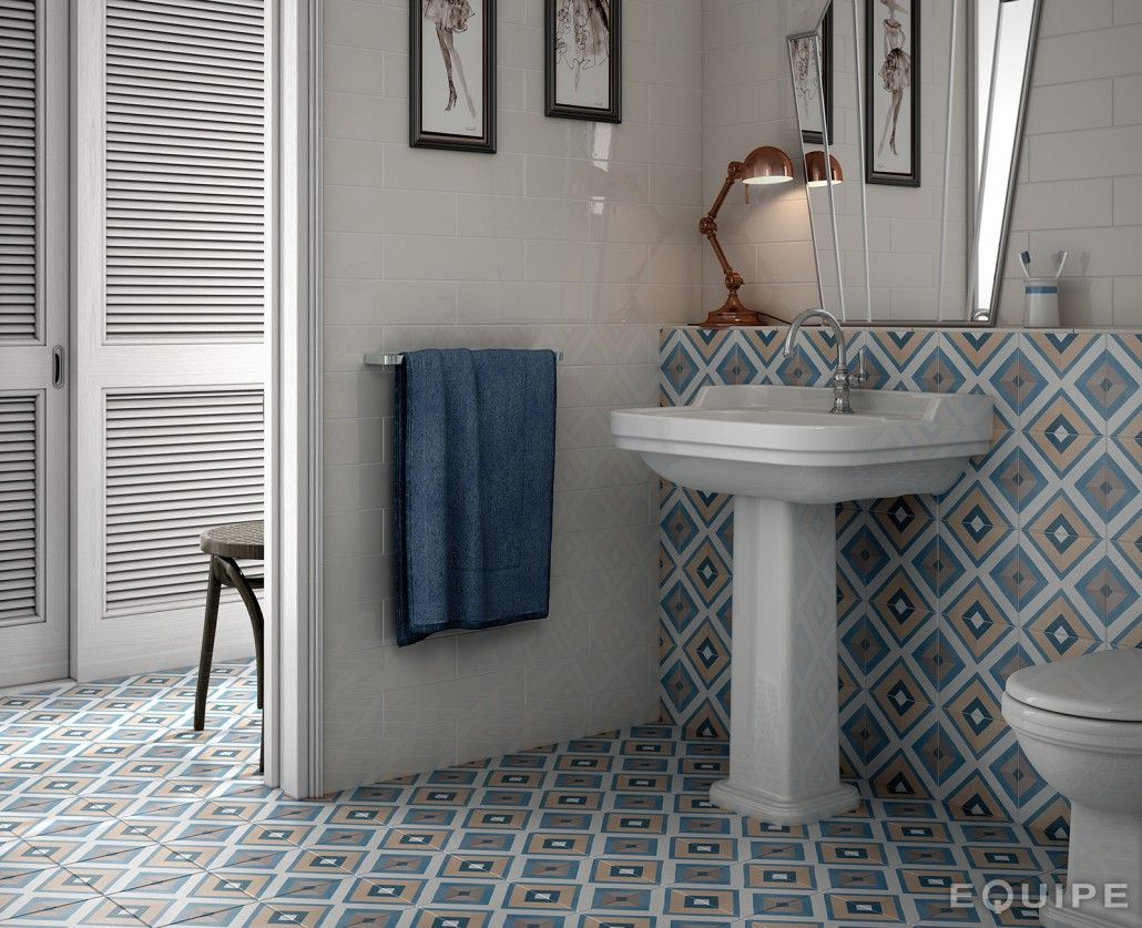 Badezimmer dekor mit fliesen capricedeco square colours  tiled in  pinterest