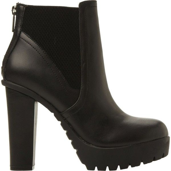 STEVE MADDEN Chunky cleated ankle boots (665 BRL) ❤ liked on Polyvore  featuring shoes