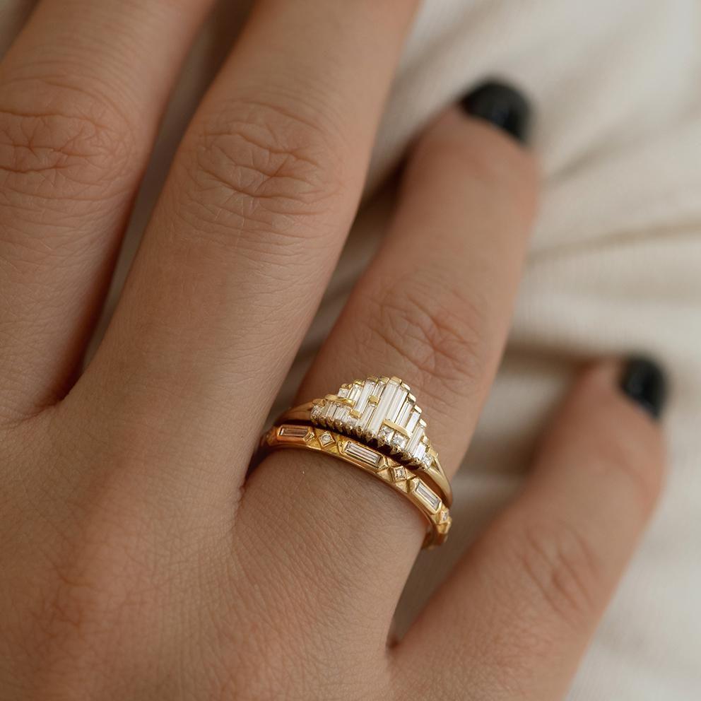 Photo of Art Deco Wedding Ring Set