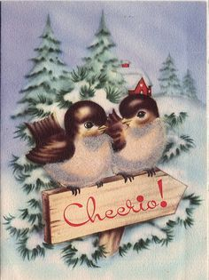 Christmas Cards Vintage Birds Google Search Christmas