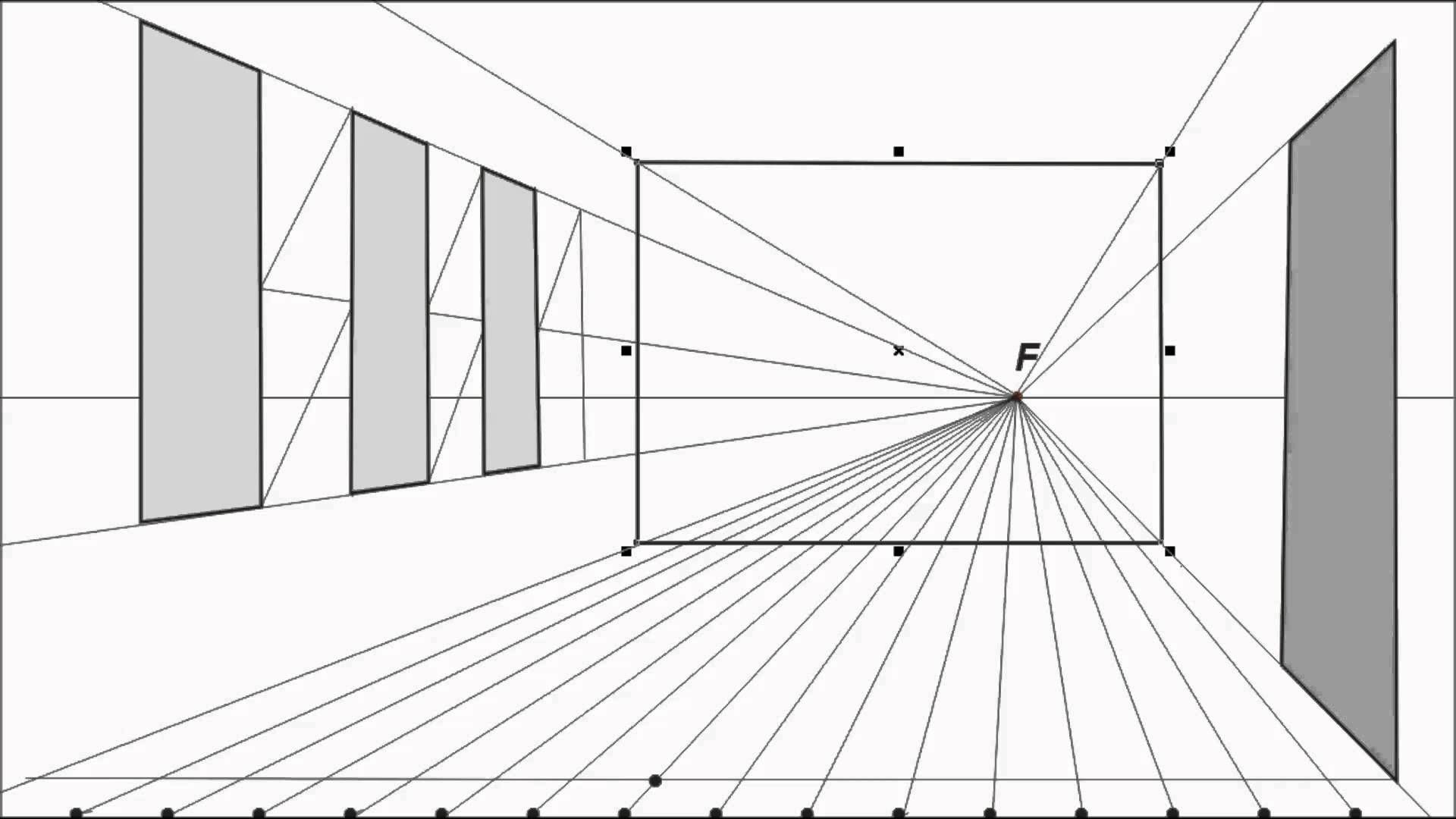 How To Draw A Room Using One Point Perspective Step By Drawing With Pe