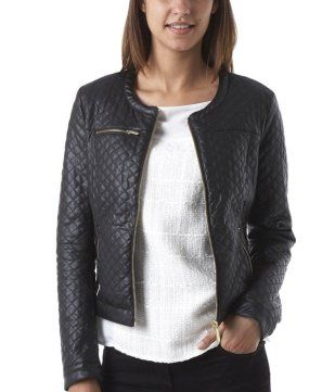 Quilted jacket black - Promod