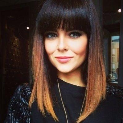 Medium length hairstyle · High low cut · Full bangs | Hair & Beauty ...