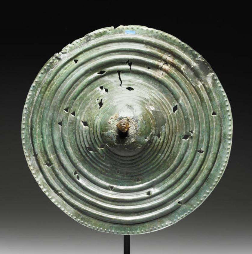 A Celtic Bronze Shield Circa 5th Century B.C. Circular In