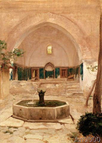 Lord Frederick Leighton - Ruined Mosque, Broussai, 1867