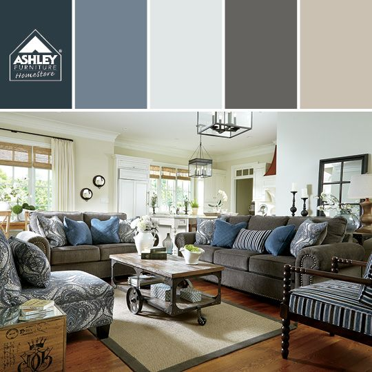 Living Room Furniture Ashley soothing blues! navasota sofa - ashley furniture homestore | liven