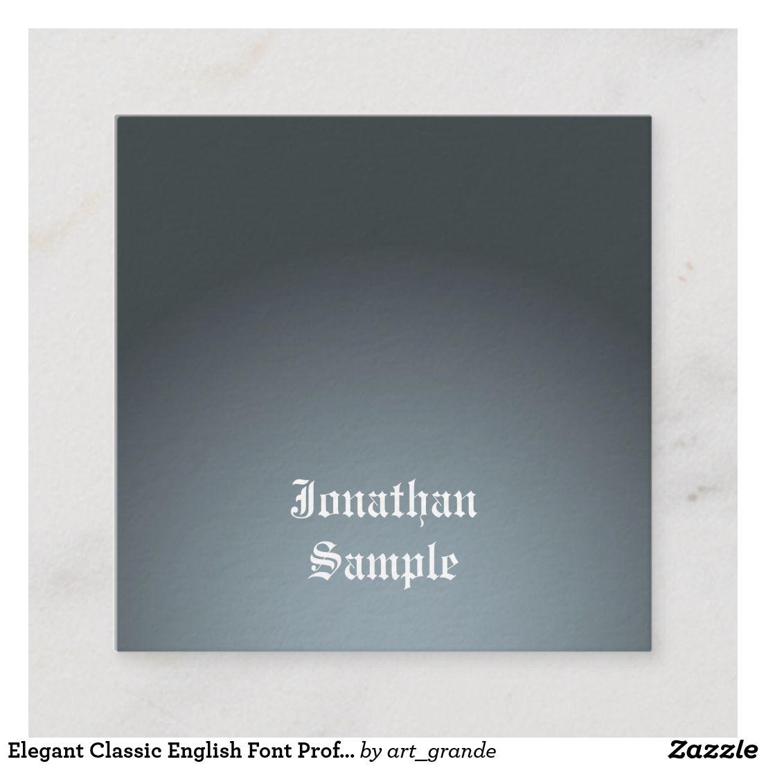 elegant classic english font professional luxury square