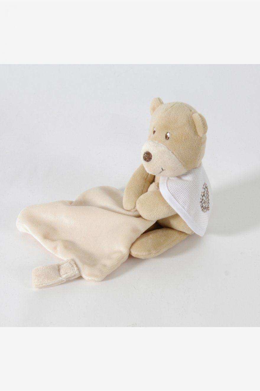 Peluche ours avec accroche sucette teddydou
