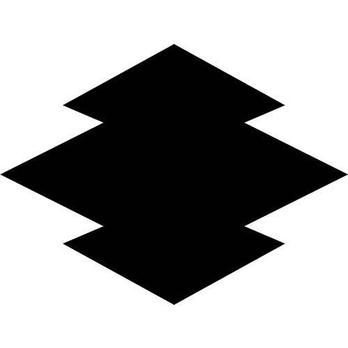 松皮菱 まつかわびし 家紋 図 デザイン