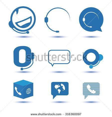 icons for call center or hotline support symbol in vector support symbols call center design call center icons for call center or hotline
