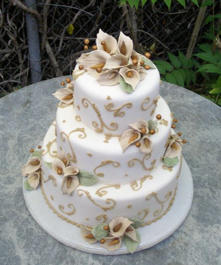 Chamange Calla Lily Wedding Cake Calla Lilies Wedding Cake And Cake - Calla Lilly Wedding Cake