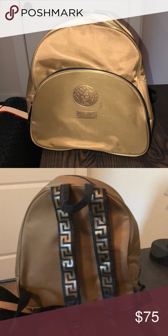 3d09f066c81 Versace Parfum backpack Medium sized backpack but great for traveling or  using in place of a purse! Versace Bags Backpacks