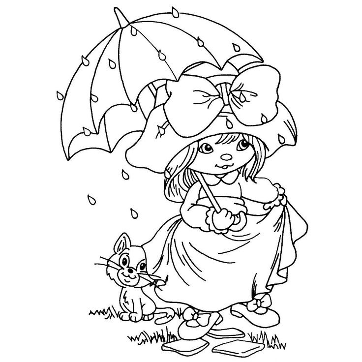 April Showers Coloring Pages AZ Coloring Pages