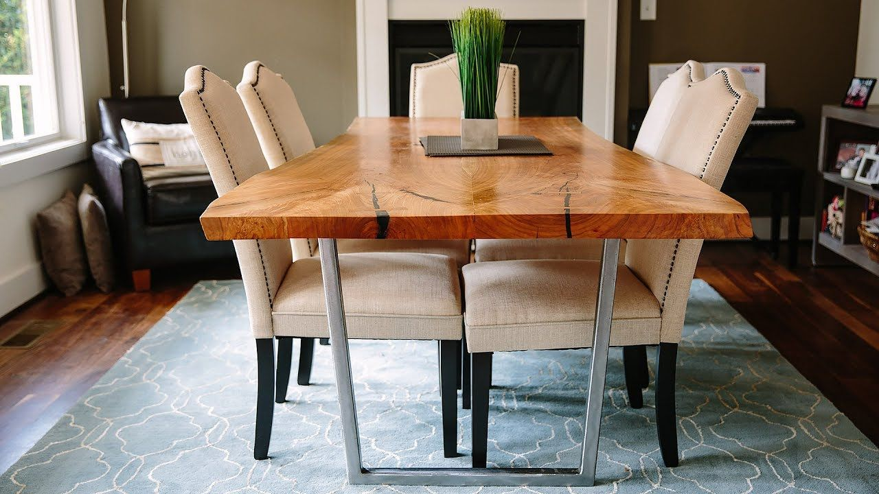 Bookmatched Live Edge Cherry Table Wm Walker Co Table Rustic