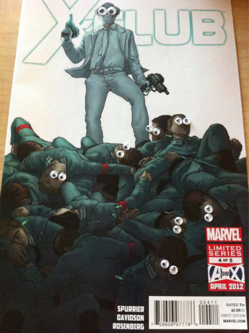 Again a very funny Tumblr blog: X-Men With Googly Eyes. As the creator Googlinator says: Uncanny. Astonishing. Googly. Check it out.