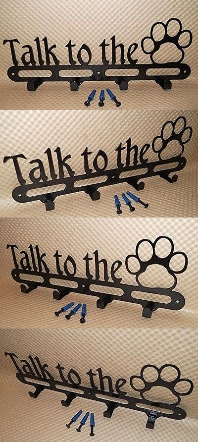 Dog Lover Products 116378: Michaels Metal Art Dog Leash Holder. Talk To The Paw. Wall Storage. Solid -> BUY IT NOW ONLY: $54.21 on eBay!