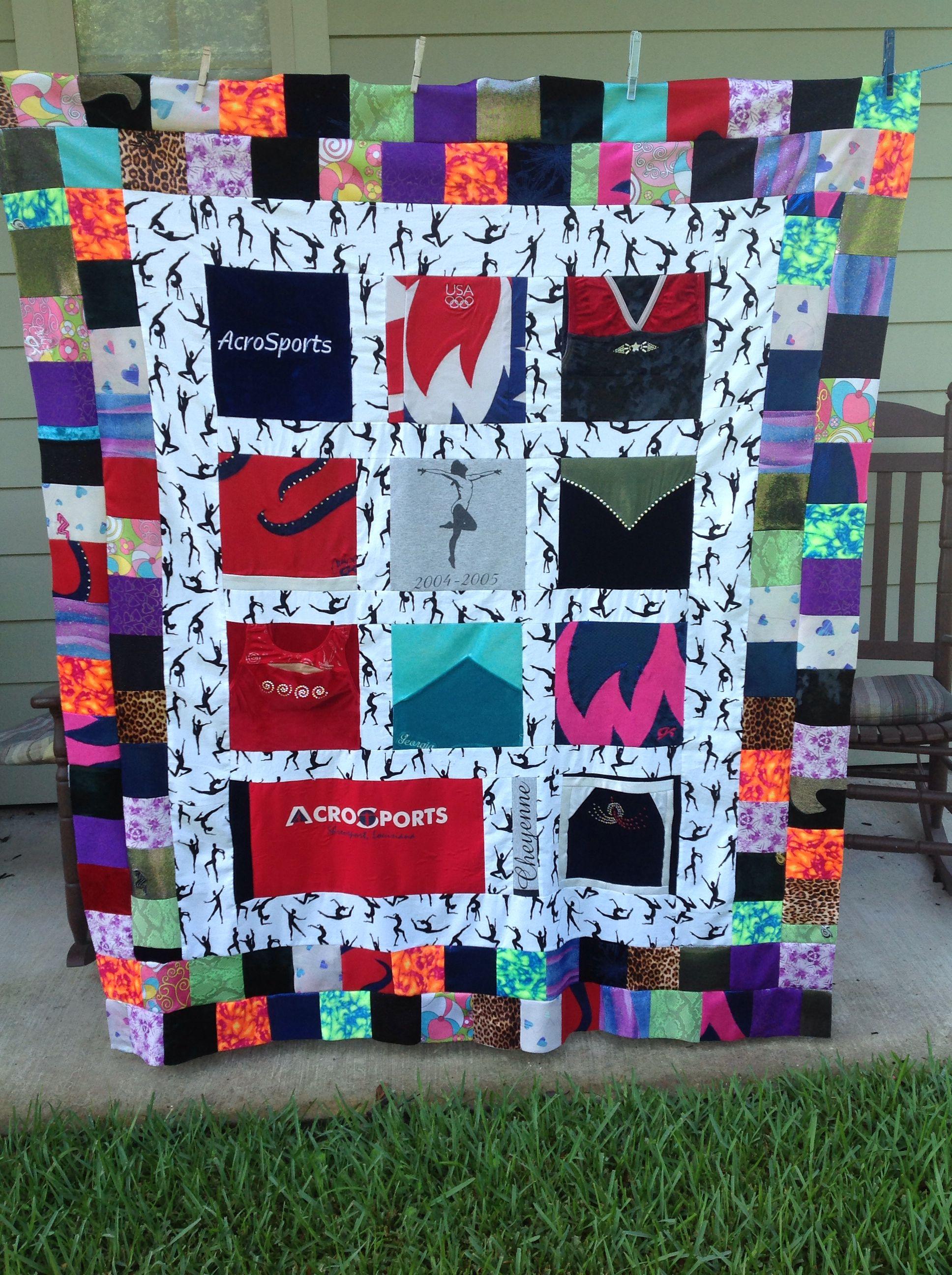 gymnastics memory quilt | quilt ideas | pinterest | quilts, shirt