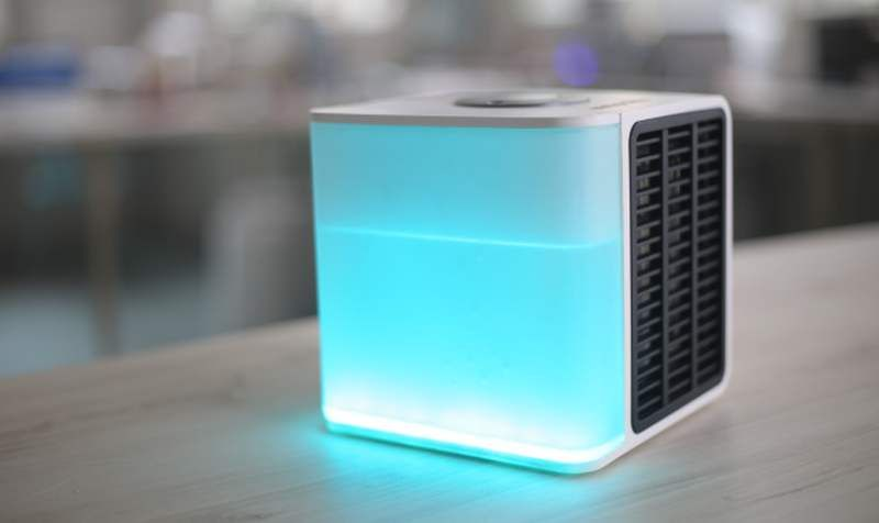 Evapolar first personal air conditioner, cools, humidifies and cleans the air creating your local…