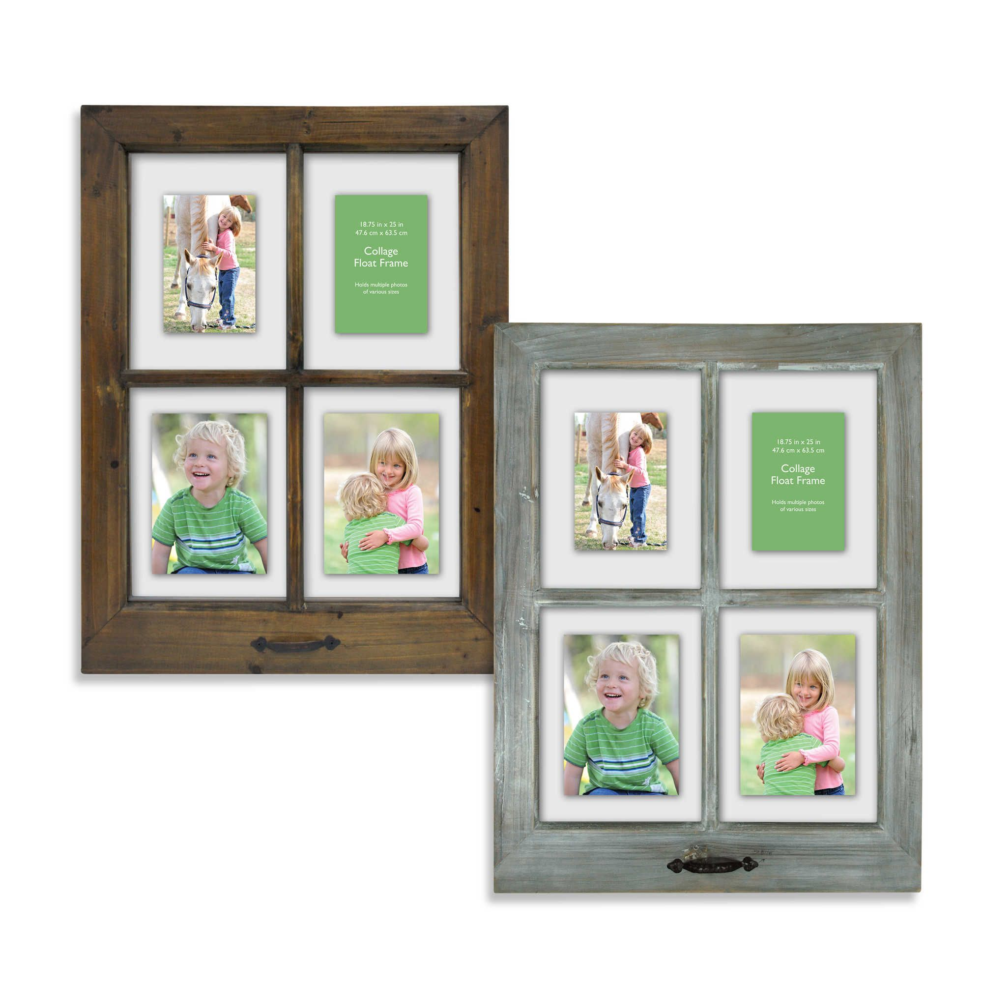 4-Opening Windowpane 18.5-Inch x 25-Inch Collage Frame ...