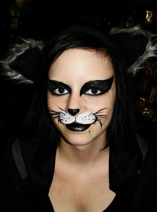 Cat Whiskers Face Paint : whiskers, paint, Really, Quick, Face., 'patch, Puppy', Eyes,, Whiskers,, Tongue, Hanging, Quic…, Painting, Halloween,, Kitty, Paint,, Makeup