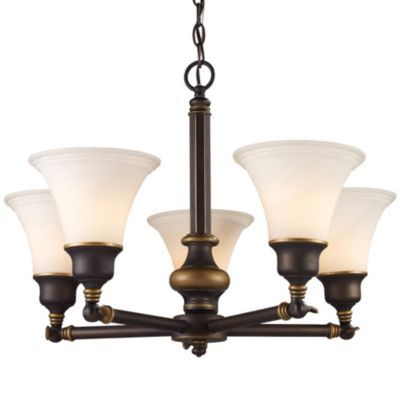 Lurray swivel chandelier by landmark lighting