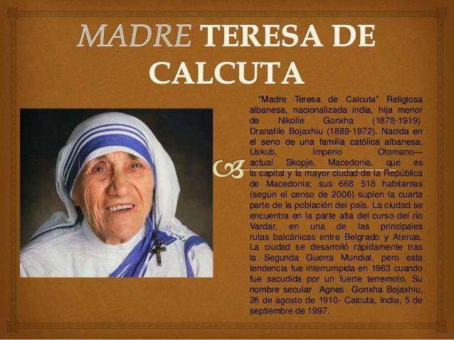 Madre Teresa De Calcuta Biografia Madre Teresa De Calcuta