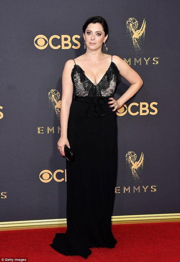 da919cdd2 Making a statement: Crazy Ex-Girlfriend star Rachel Bloom revealed on the Emmys  red carpet that she had to buy her $3,500 Gucci dress because the brand ...