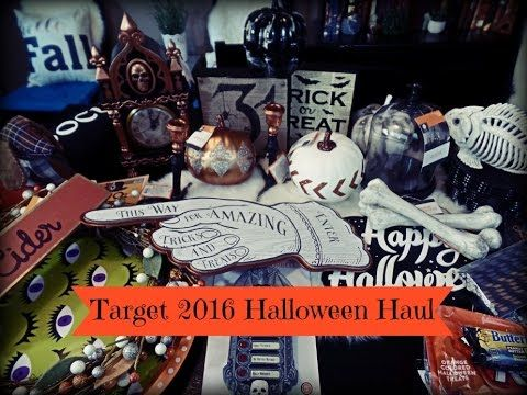 Target Halloween 2016 Fall Home Decor Shopping  Haul Halloween