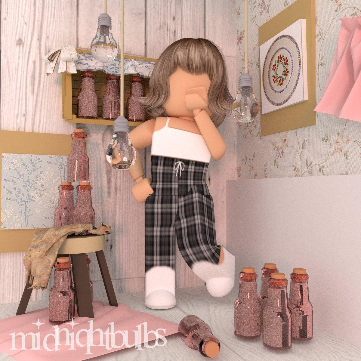 Gfx Roblox Aesthetic Girl In 2020 Roblox Cute Tumblr Wallpaper Roblox Animation
