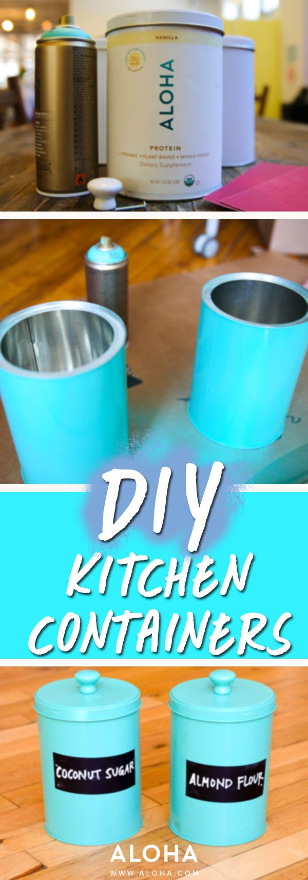 Reuse Your Aloha Protein Tins For Adorable Kitchen Containers We Show You How