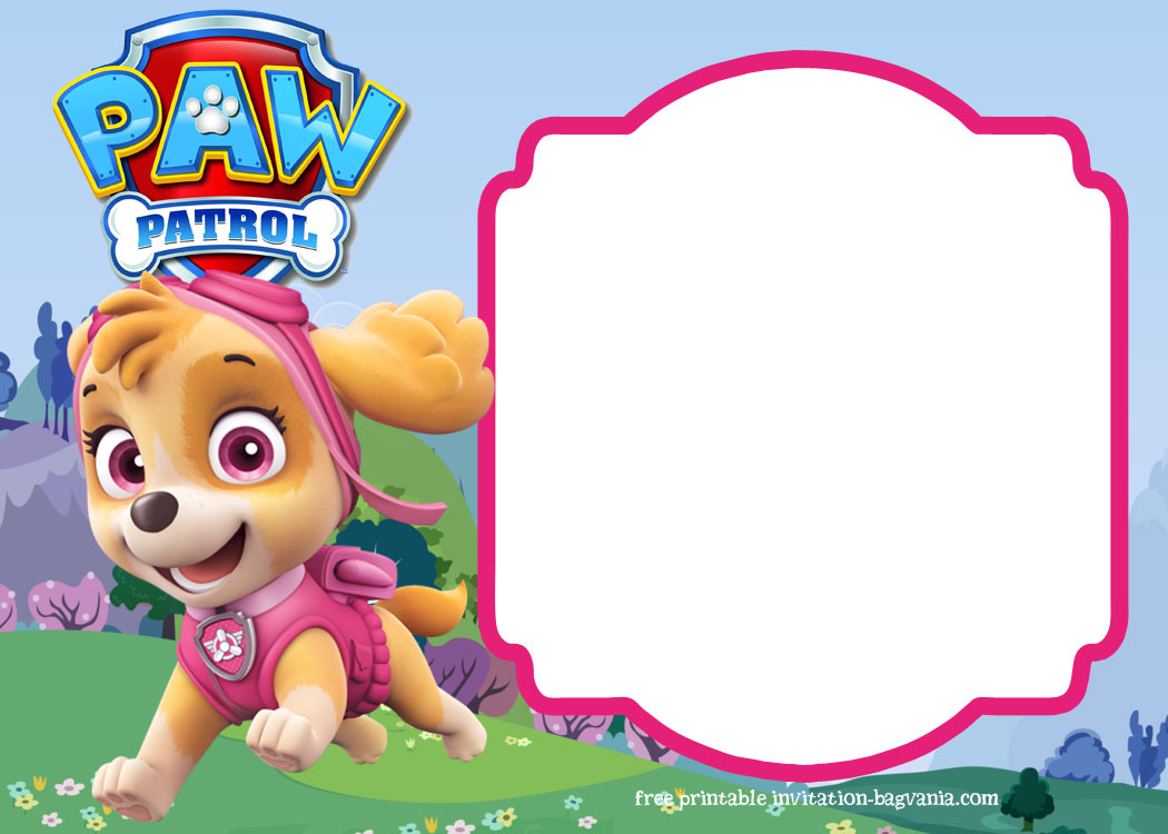 Paw Patrol Skye Invitation Template For Your Daughter S Birthday Party In 2020 Paw Patrol Birthday Invitations Paw Patrol Skye Birthday Paw Patrol Party Invitations