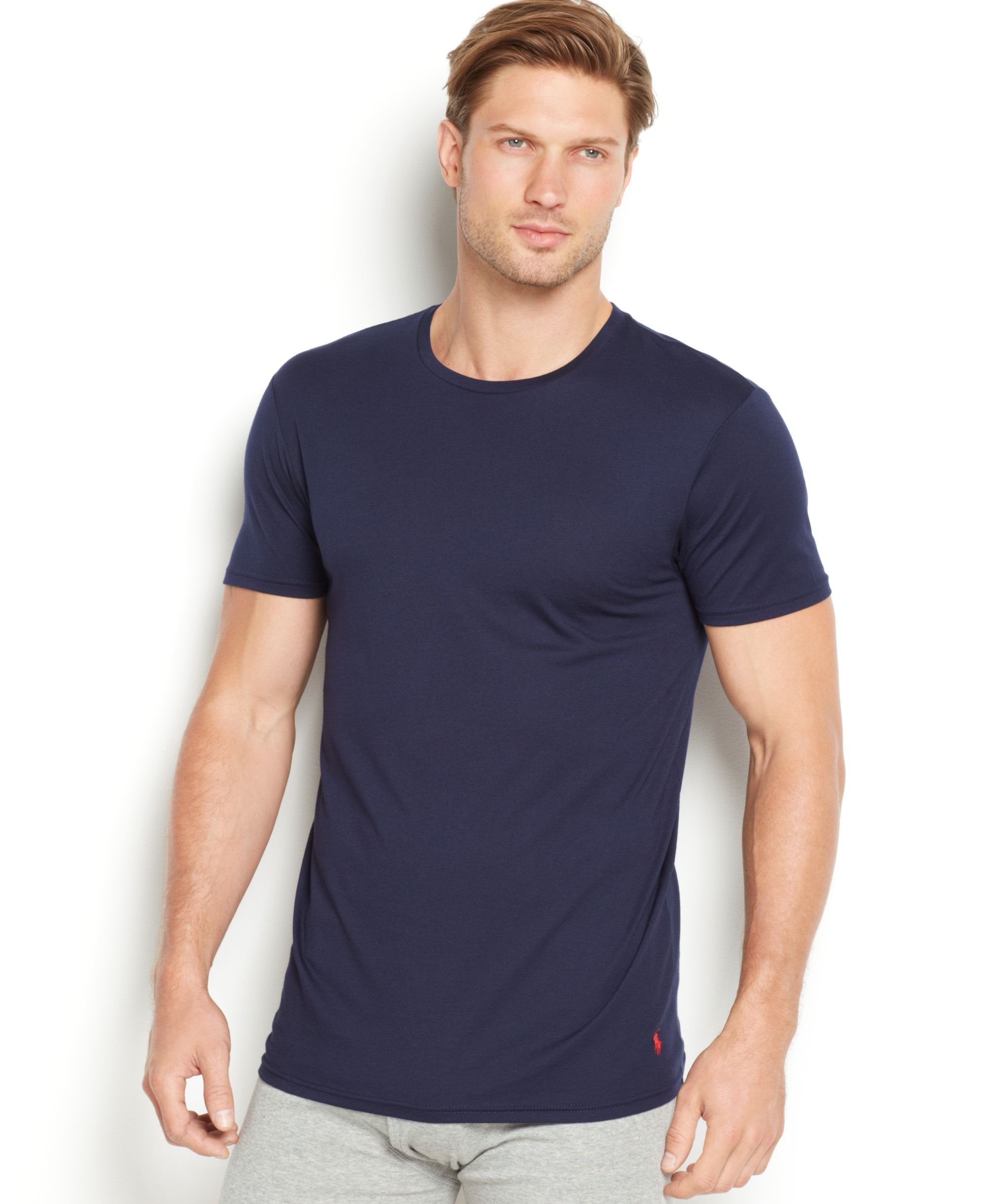 3c8652b81df67 Polo Ralph Lauren Men s Supreme Comfort Crew-Neck T-Shirt 2-Pack ...