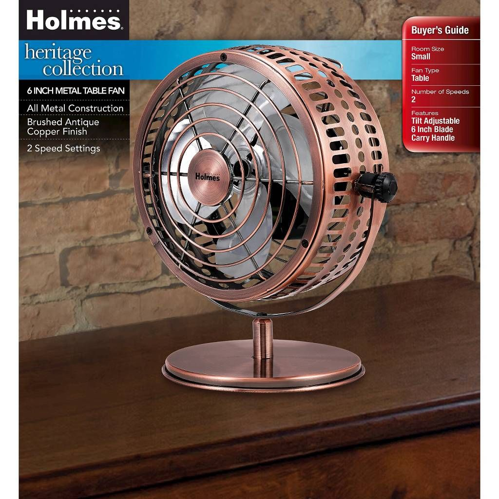 Holmes Metal Desk Fan Medium Bronze Hdf0646 Ct Image 4 Of 6