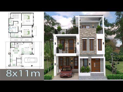 House Plans Idea 12x9 With 4 Bedroomsthe House Has Uilding Size M X M 12 00 X 9 00land Siz Simple House Design Modern House Floor Plans Duplex House Design