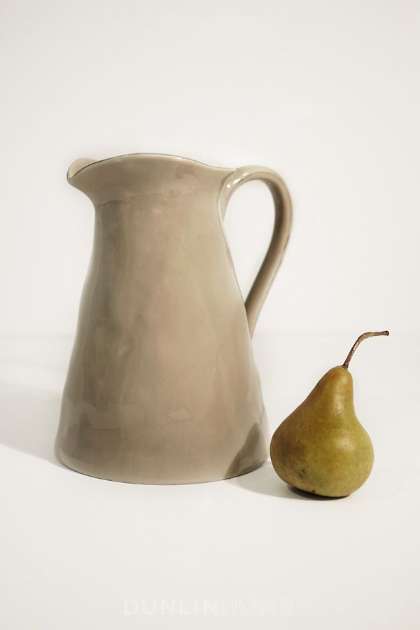 Sculptor's Large Taupe Pitcher