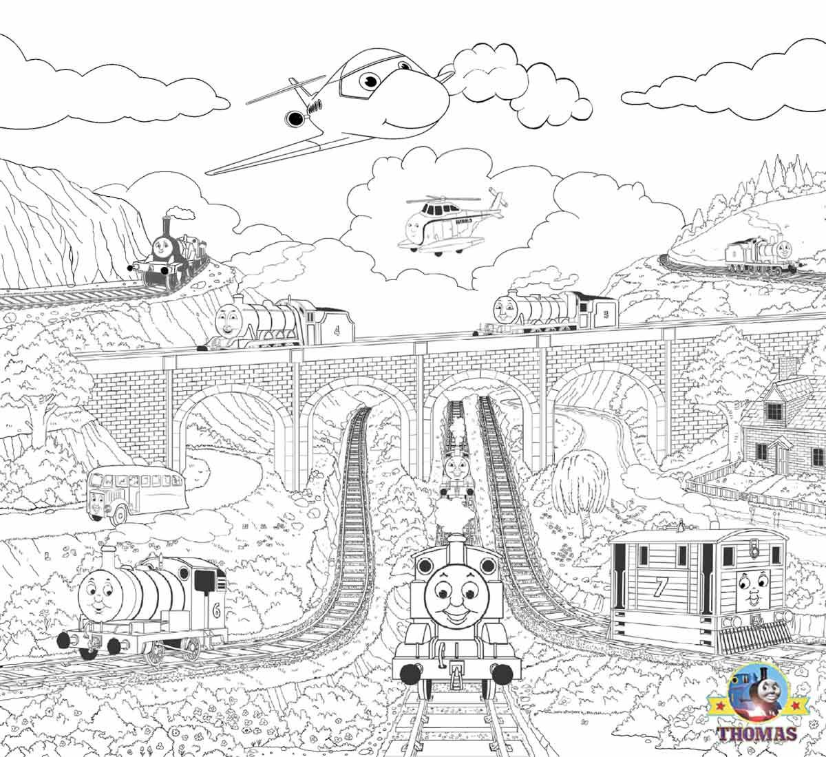 Easy+Thomas+the+train+and+friends+coloring+steam+railroad+pictures+ ...