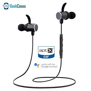 GeekCases Deep Bass Magnetic Bluetooth Earbuds with apt-X/Google