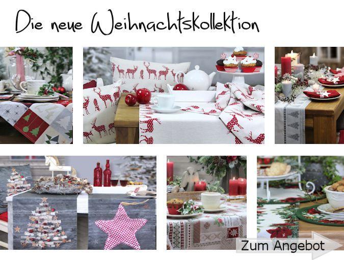 weihnachten tischdecken tisch ufer kissenh llen und mehr bei sander. Black Bedroom Furniture Sets. Home Design Ideas