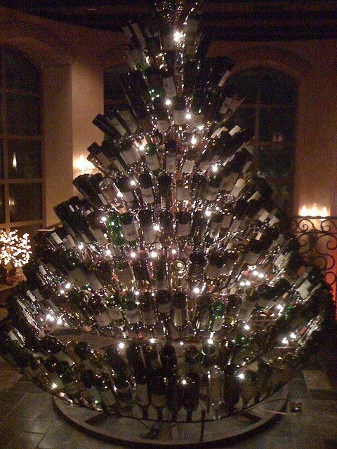 i love christmas trees maybe by next christmas i can save enough bottles to make one of these - How To Make A Wine Bottle Christmas Tree