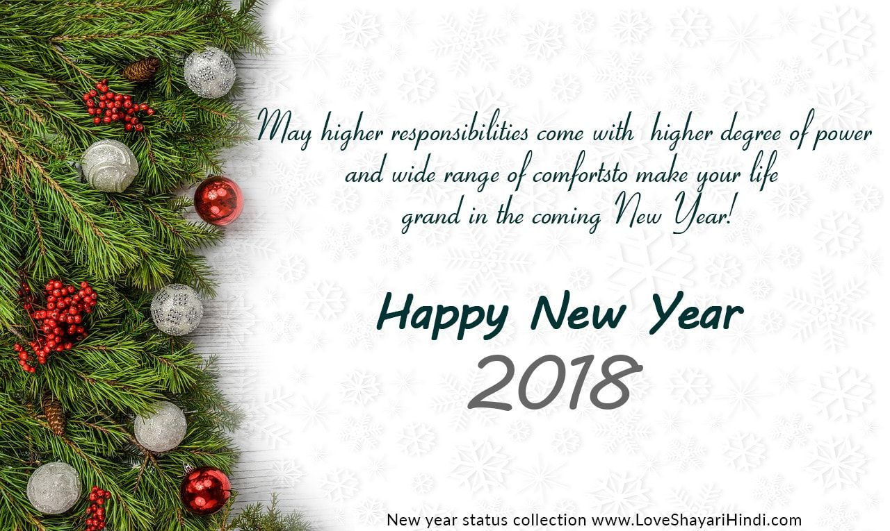 Happy New Year 2018 Status in english. Collection of best greeting ...