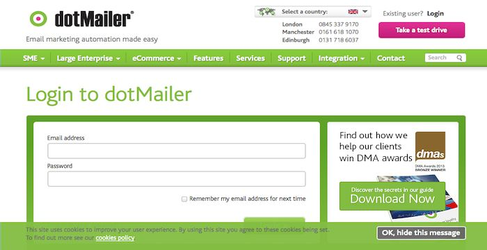 Dotmailer Email Marketing Automation Login Page Make It Simple
