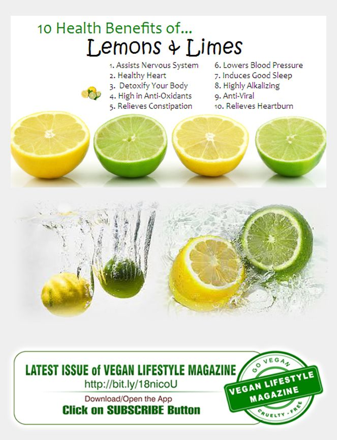 Lemons and LImes  Latest Issue of Vegan Lifestyle Magazine available NOW  Vegan Lifestyle Magazine - Your Guide to Healthy Eating,  Raw Food, Vegan Diet, Vegetarian Recipes, Nutrition Tips  And All Things Vegan.  Download/Open the App  iTunes: http://goo.gl/rDCtRK Google Play: http://goo.gl/8yoylB