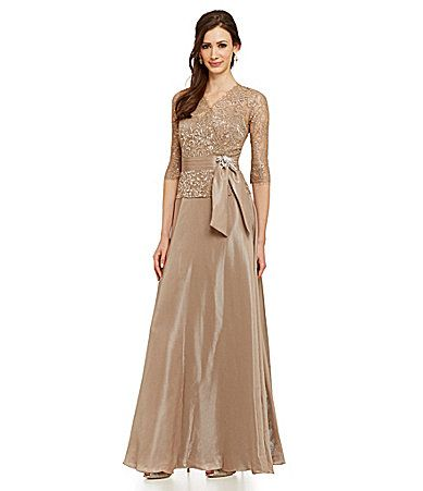 Emma Street Metallic Lace Gown Mother Of The Bride Dress Dillards
