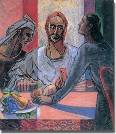 The Supper At Emmaus Roy De Maistre 1894 1968 Oil