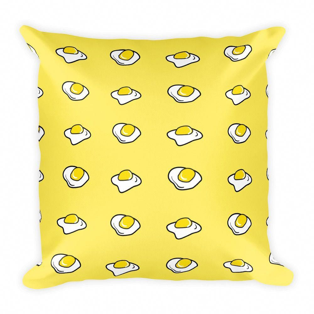Egg Pillow - Kawaii Decorative Pillow for Yellow Style Harajuku Bedroom Dorm Pas...#bedroom