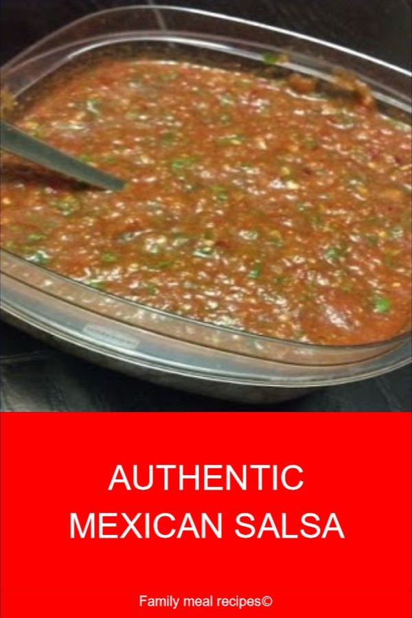 AUTHENTIC MEXICAN SALSA - Family meal recipes #authenticmexicansalsa