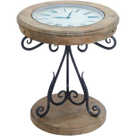 Home Wood Clocks End Tables Coffee End Tables
