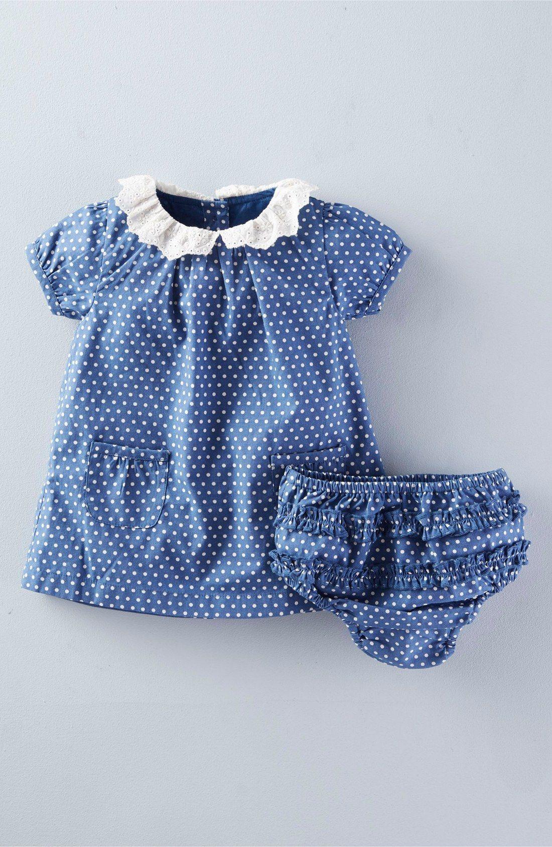 355d70eaa9450 Mini Boden Broderie Collar Dress (Baby Girls) | Baby | Baby girl ...