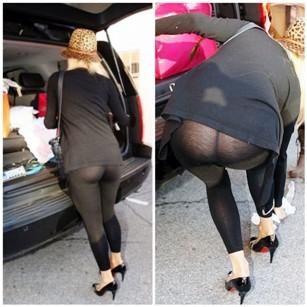 Paris hilton yoga pants